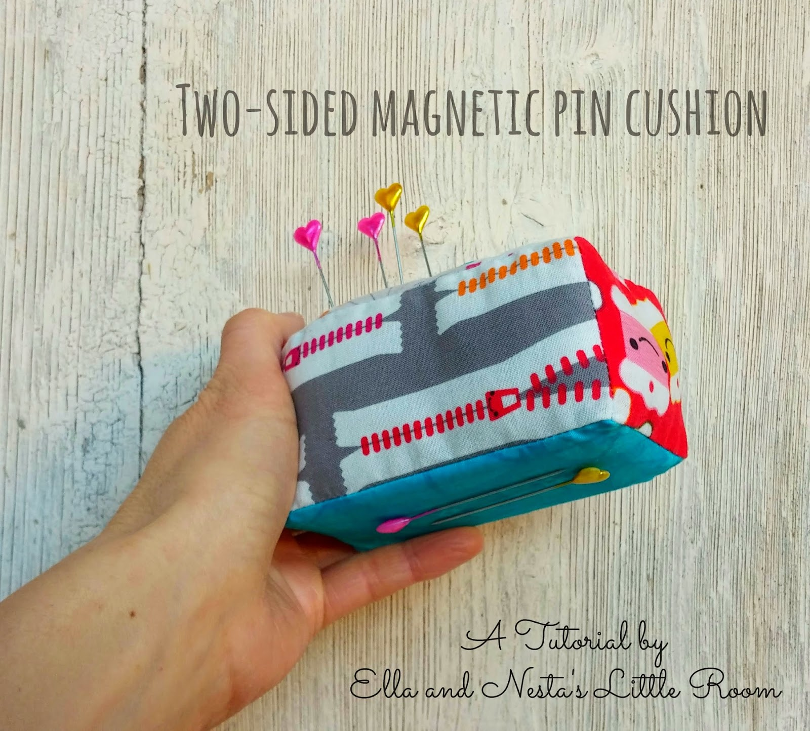 How to make a Two-Sided Magnetic (Fabric) Pin Cushion - Tutorial