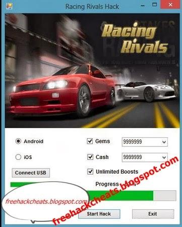 Download Racing Rivals Cheat Tool
