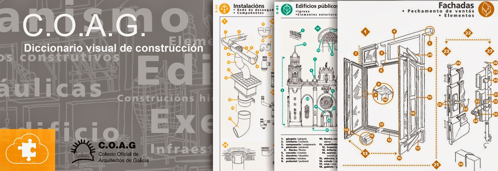 Diccionario visual de construcción | C.O.A.G. | 318 páginas | PDF