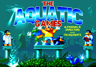 The Aquatic Games Starring James Pond and the Aquabats Amiga Title Screen