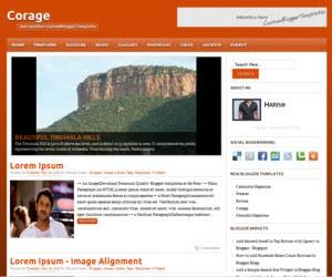Corage Blogger Template
