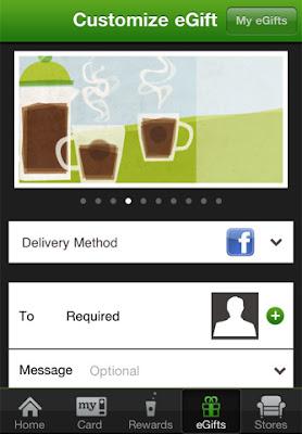 Starbucks app for iPhone