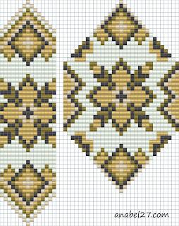схемы герданов гайтанов бисероплетение станочное ткачество