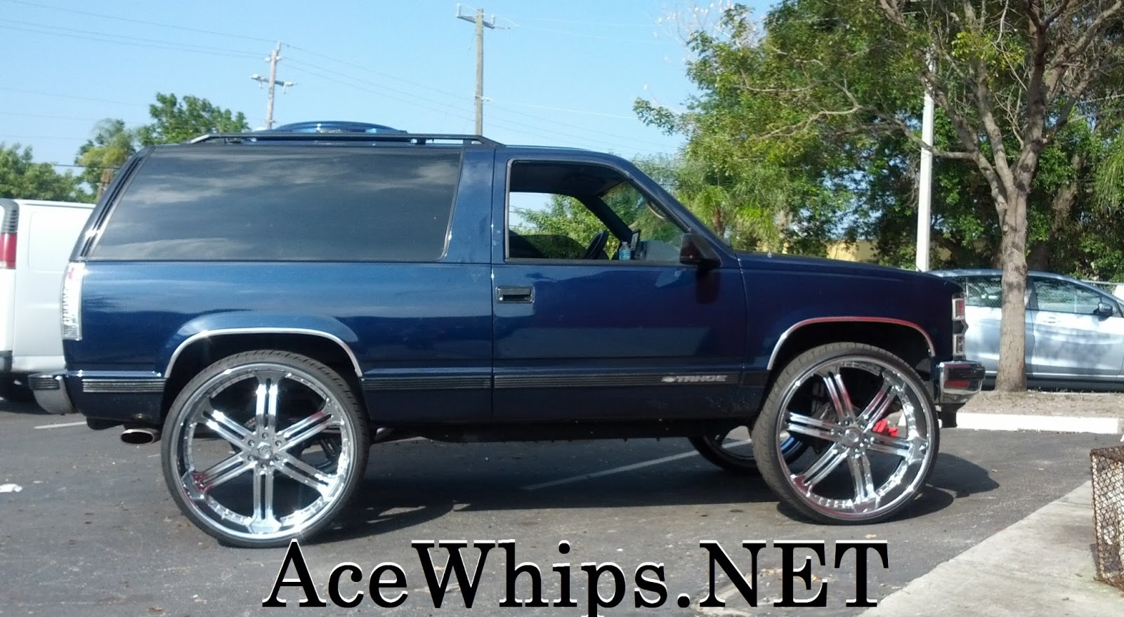 "Ace-1: WTW Customs- 2DR Chevy Tahoe on 30"" Versante Rims"