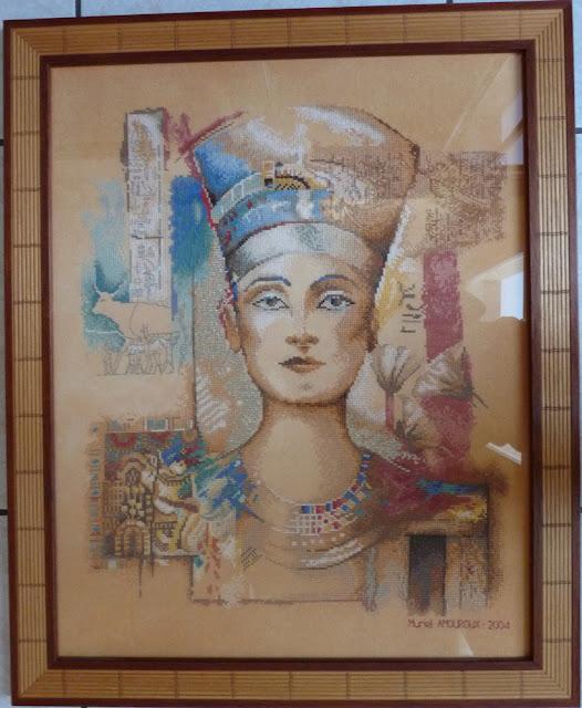 La Reine NEFERTITI,Lanarte,Broderie