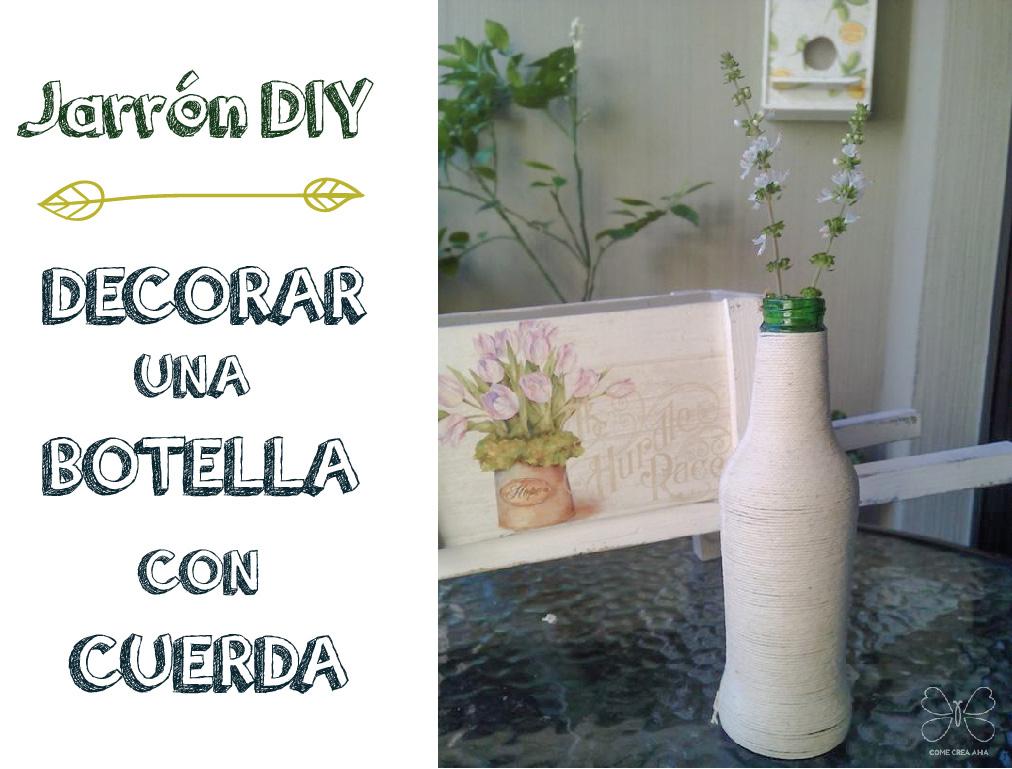 reciclar botella con cuerda