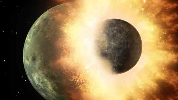 Planeta parecido a Mercurio chocó contra la Tierra