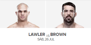 assistir ufc online Lawler x Brown