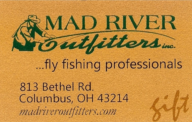 Mad river outfitters christmas eve until 6 00 and gift for Central ohio fishing report
