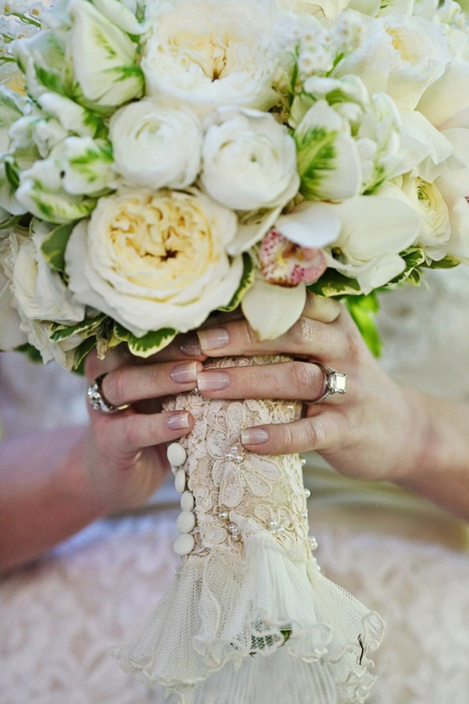 Wedding Bouquet Wraps, Handles and Holders Inspiration - Belle the