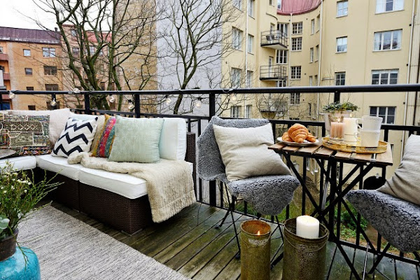 Insp raci n balcones de invierno con encanto decorar - Balcones con encanto ...