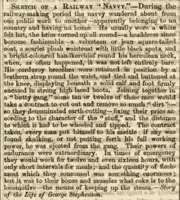 "Sketch of a Railway ""Navvy"", 1859 (book extract)"