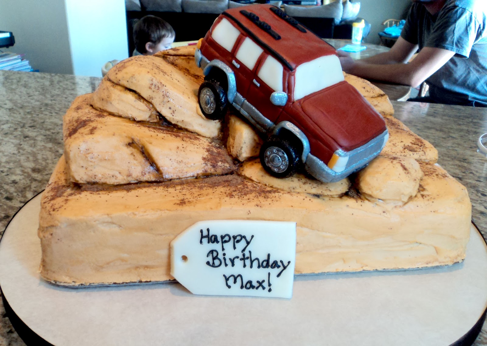 Delectable Cakes Jeep Rock Climbing Birthday Cake