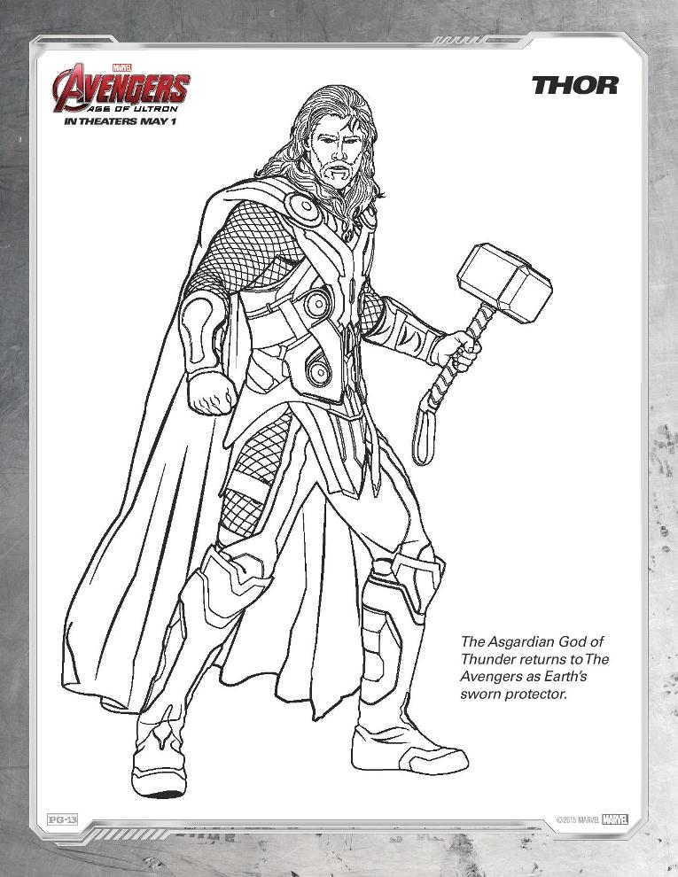 Ausmalbilder Die Rächer The Avengers Age Of Ultron