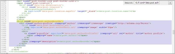 Código del cuadro del autor visto desde el editor