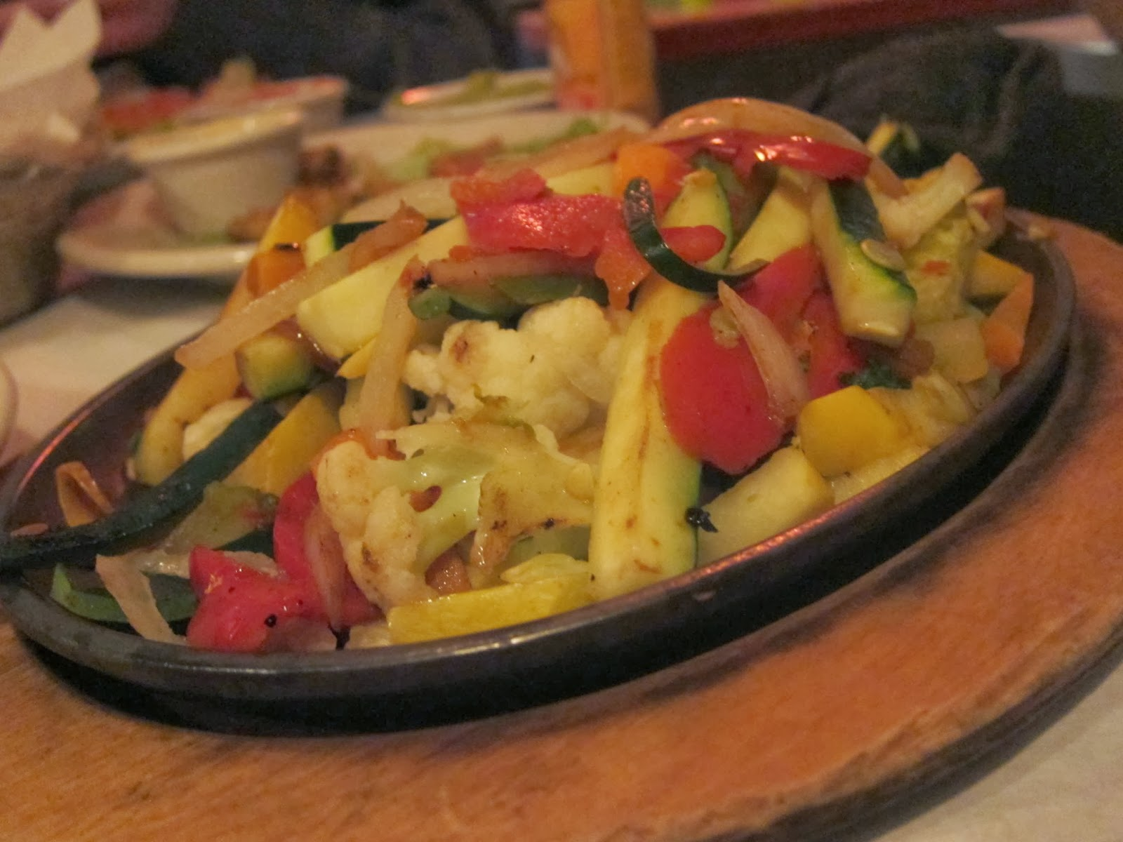 Vegetable Fajitas from Fajitas & 'Ritas | The Economical Eater