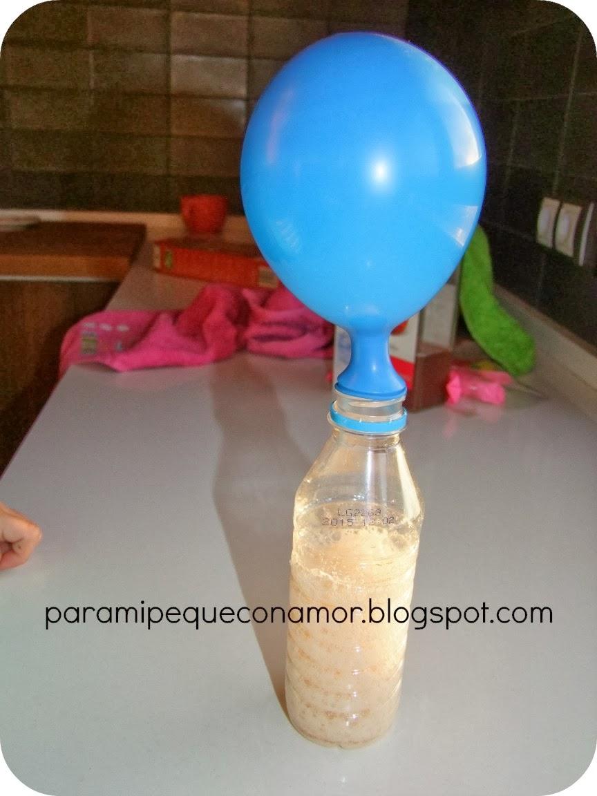 Para mi peque con amor hacemos gas para hinchar un globo - Como limpiar la lavadora con vinagre y bicarbonato ...