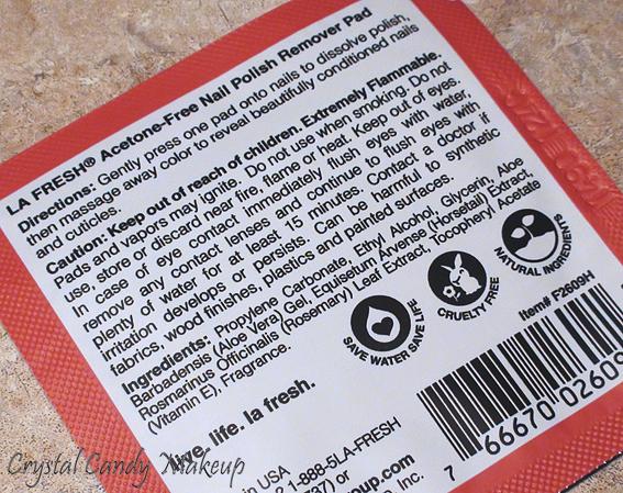 Acetone-Free Nail Polish Remover de La Fresh