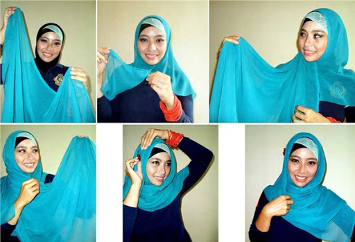 kreasi jilbab segi empat desain simple, elegan modis dan modern terbaru 2017/2018