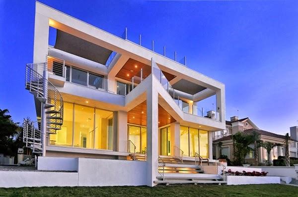 ide desain rumah modern dua lantai rancangan desain