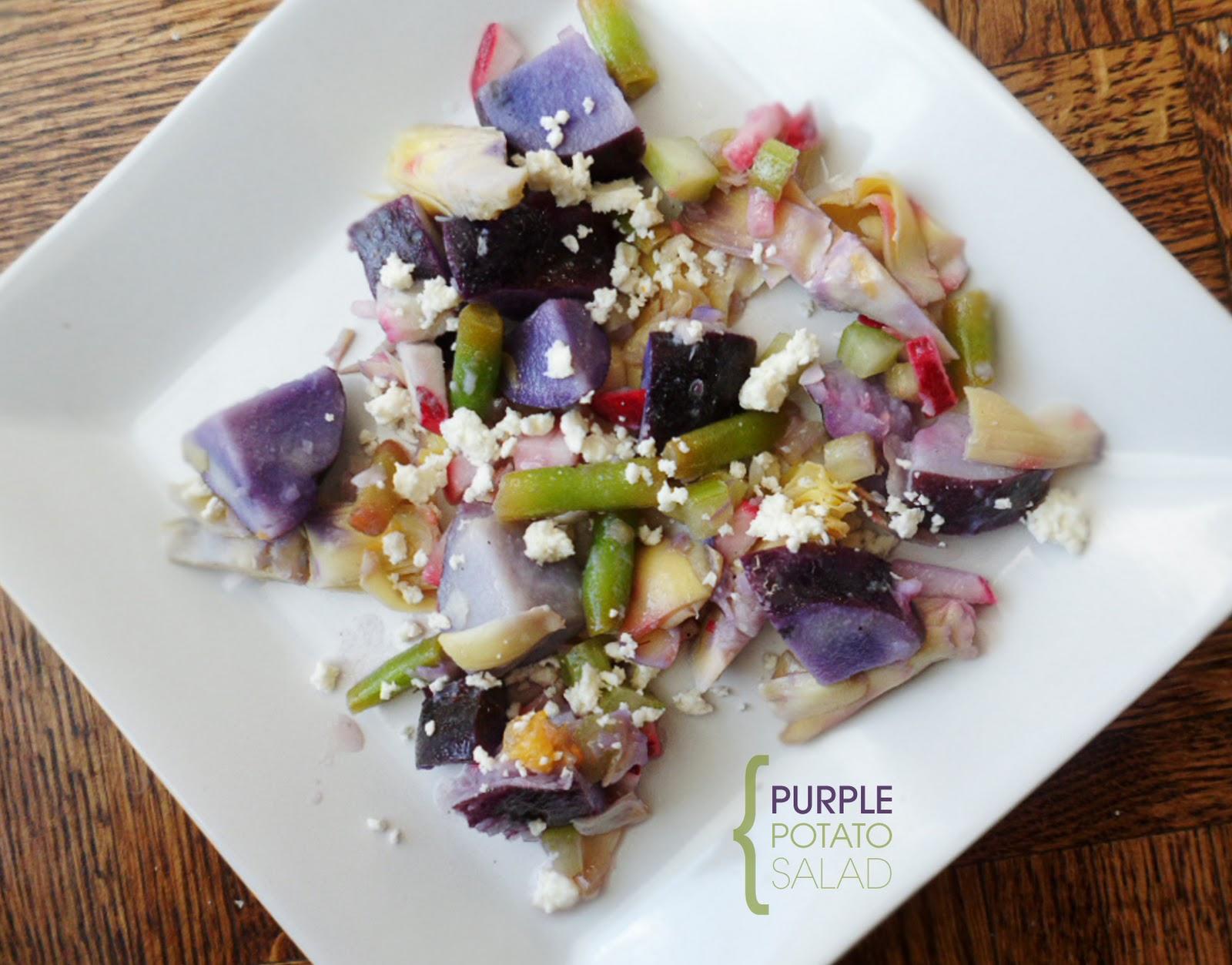 The Tomato Snob: Purple potato salad