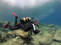 well weighted scuba diver in cyprus