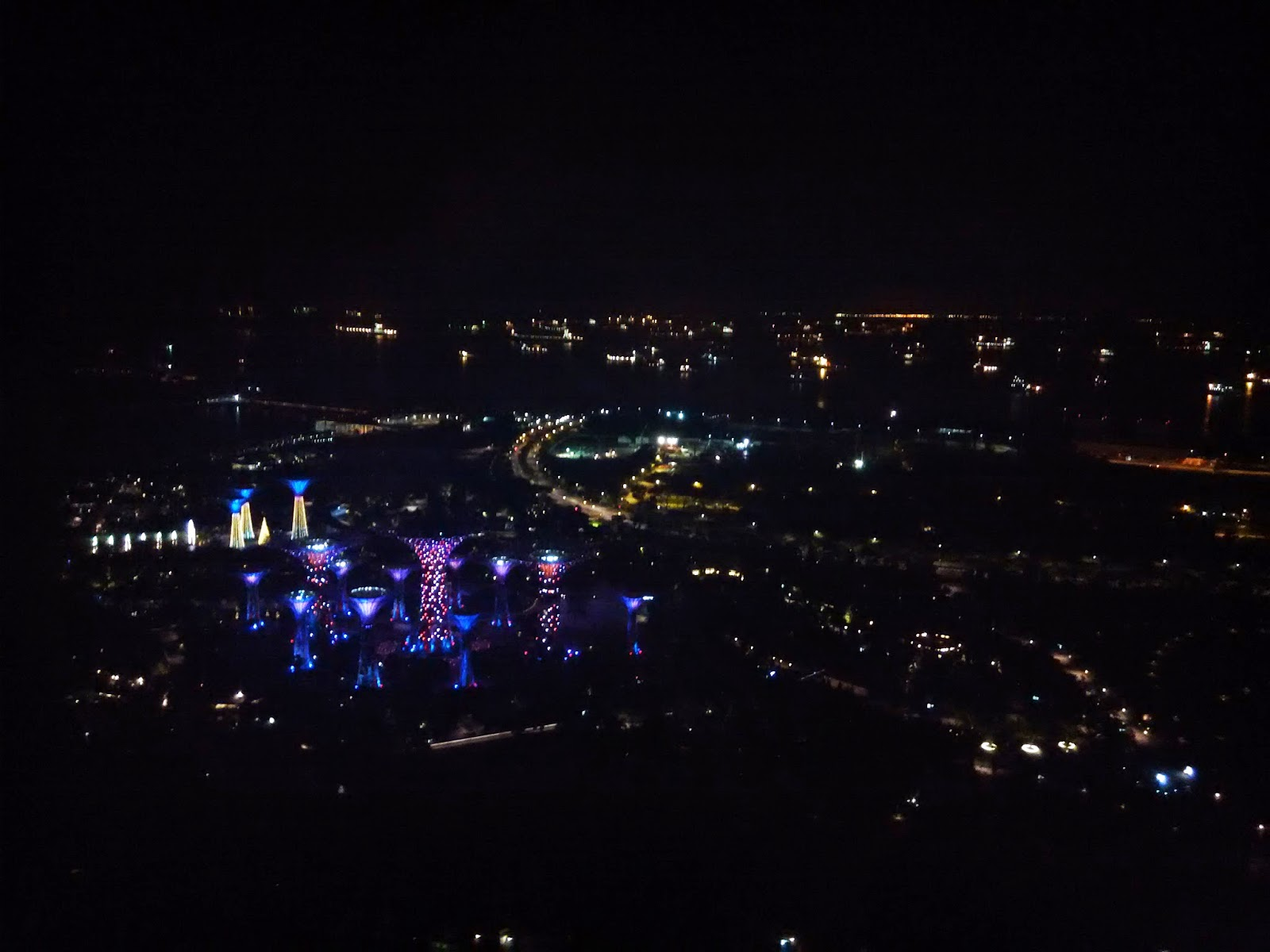 can see the light show at the garden by the bay