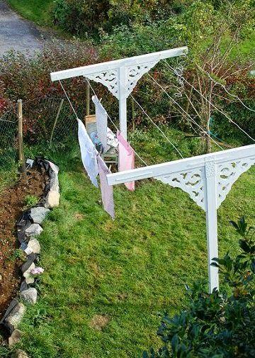 Apr gy ny r s gek falusi nyarakat id z kertek for Diy clothesline design