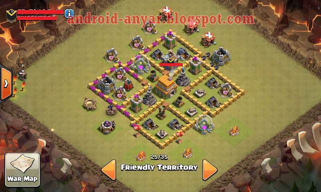 th 6 base clan war,base th 6 defense war
