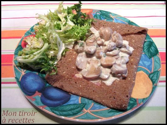 galette bretonne aux champignons