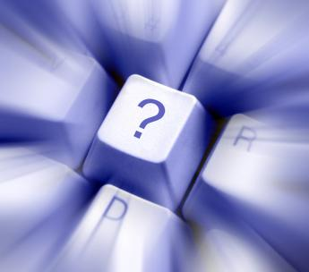 A keyboard with a question mark on one of the keys; the internet can be an answer to many questions and a great source of information