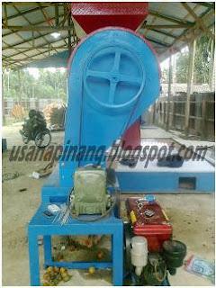Mesin Pembelah Pinang Tampak Samping