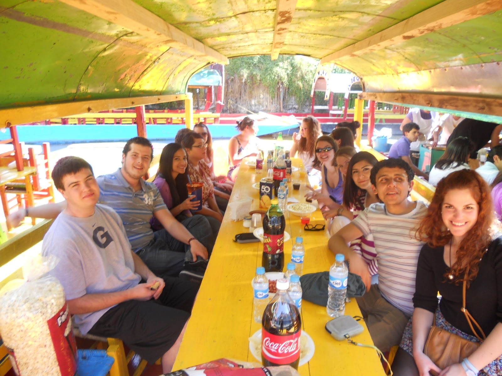Intercambio en m xico xochimilco for Xochimilco jardin flottant