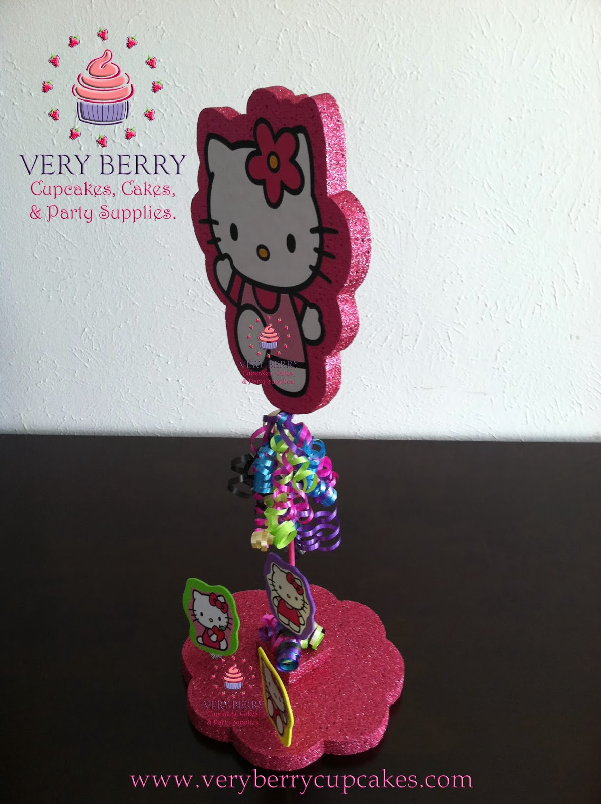 Veryberry Cupcakes Neon Hello Kitty Glitter Centerpiece
