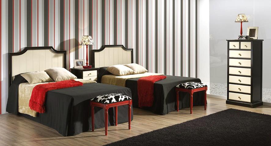 Dormitorio dos camas dise os arquitect nicos for Dormitorios juveniles dos camas en l