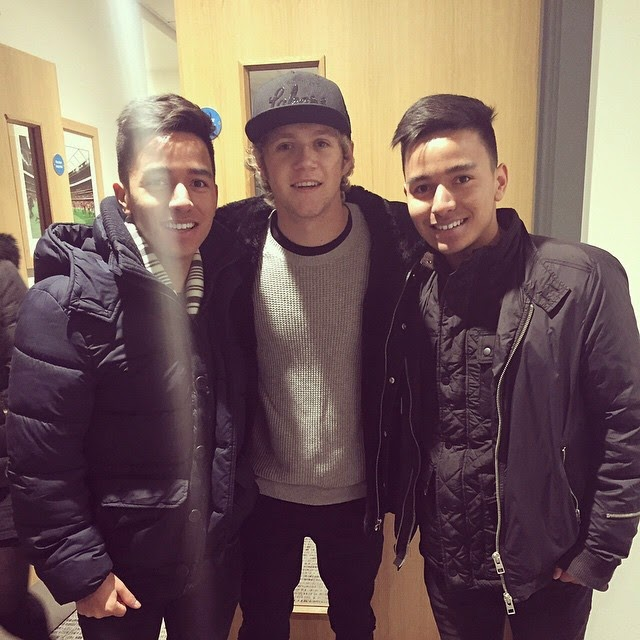 niall horan, fans, london, 03.01.15, one direction, allianz park, rugby game