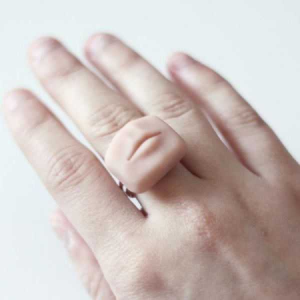 funny tiny lifelike human body parts jewelry