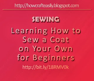 diy craft learn how to sew coat