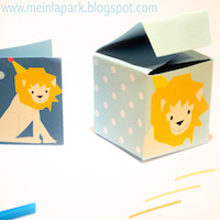 printable lion baby box