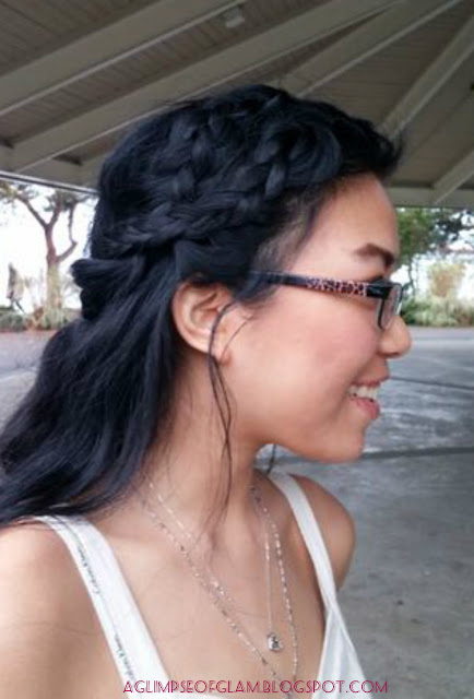 two dutch braid half up do