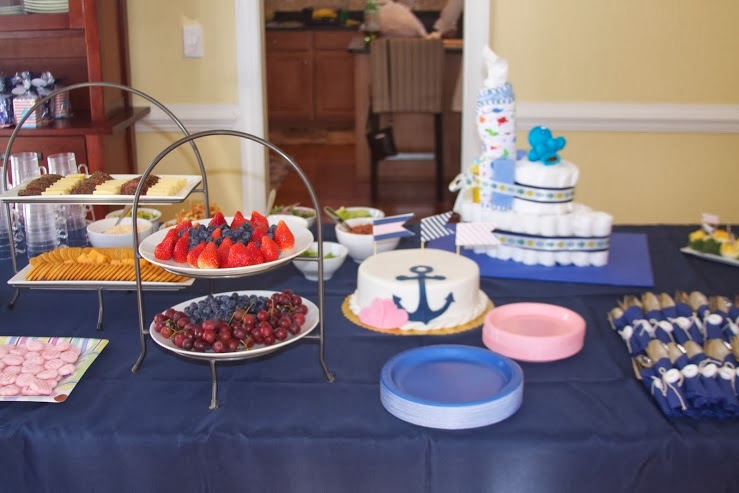 Nautical by Nature: Pink and Navy Baby Girl Shower