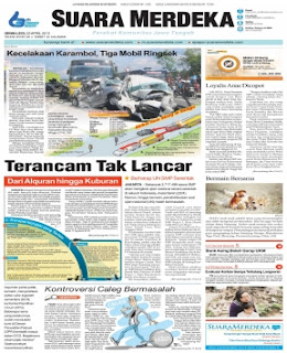KORAN HARIAN SUARA MERDEKA EDISI SENIN 22 APRIL 2013 ~ ALL IN 1 UPDATE