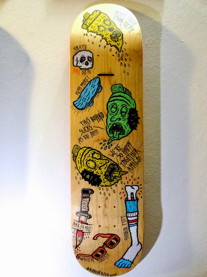 how to draw a skateboard deck