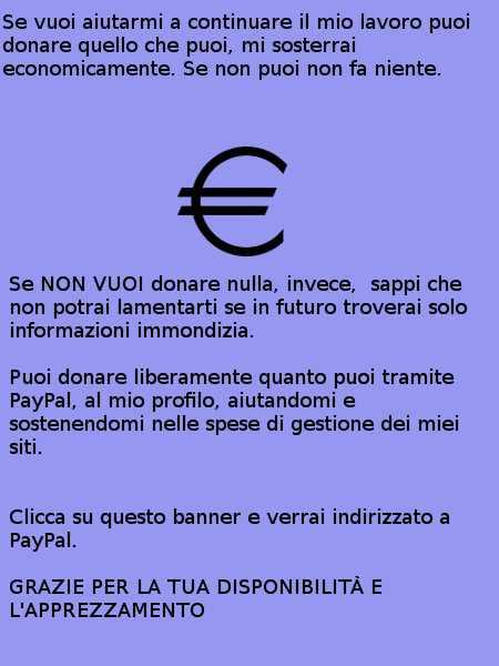 Donazioni al mio sito