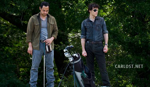 "The Walking Dead 4x07 ""Dead Weight"" Promos, Sneek Peeks y Spoilers Spoiler-The-Walking-Dead-4x07-Martinez-Gobernador-Golf"