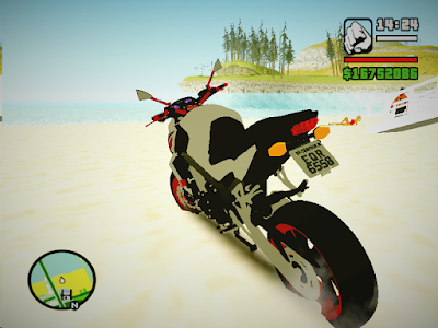 GTA SA - Honda Cb650f Red And White