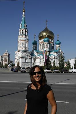 Catedral de Omsk, transiberiano 2015