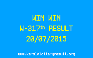WIN WIN W 317 Lottery Result 20-7-2015