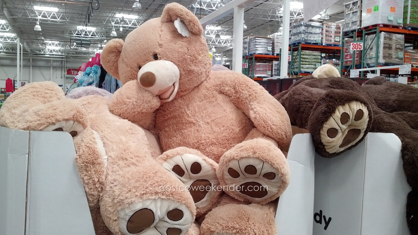 Get the hugs you deserve from the Hugfun 53-inch Plush Bear