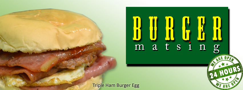 triple ham burger egg